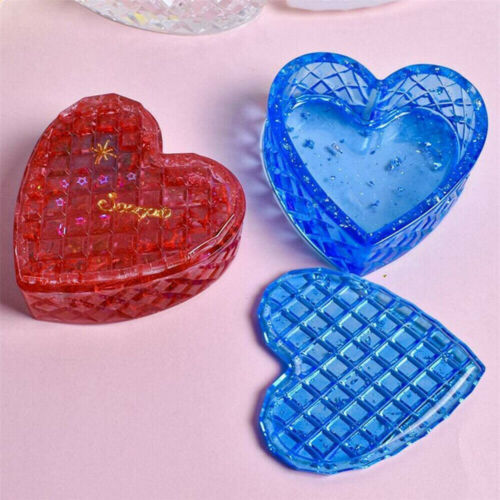 Silicone Resin DIY Jewelry Mold Heart Shapes Box Making Pendant Craft Gift Tools