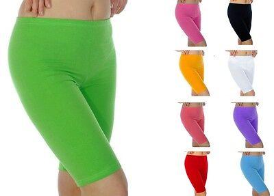 Sammlung Hier Womens Summer Shorts Cotton Leggings Dance Cycling Gym Uk 6-28