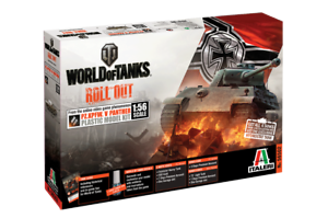 ITALERI MODEL KITS 56502 WORLD OF TANKS ROLL OUT GERMAN PANTHER 1 56 FREE SHIP