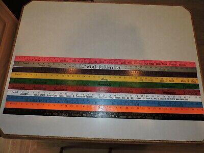 33 Yardstick Wood Wooden Ruler Lot Advertising Sign Color Art Craft Hobby