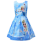 Girls-Skater-Dress-Kids-Frozen-Anna-Elsa-Print-Casual-Party-Birthday-Dresses-L3 thumbnail 3