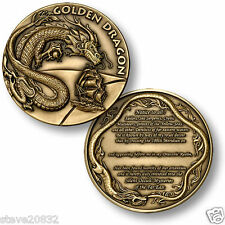 NEW U.S. Navy Order of the Golden Dragon Challenge Coin. 48833.