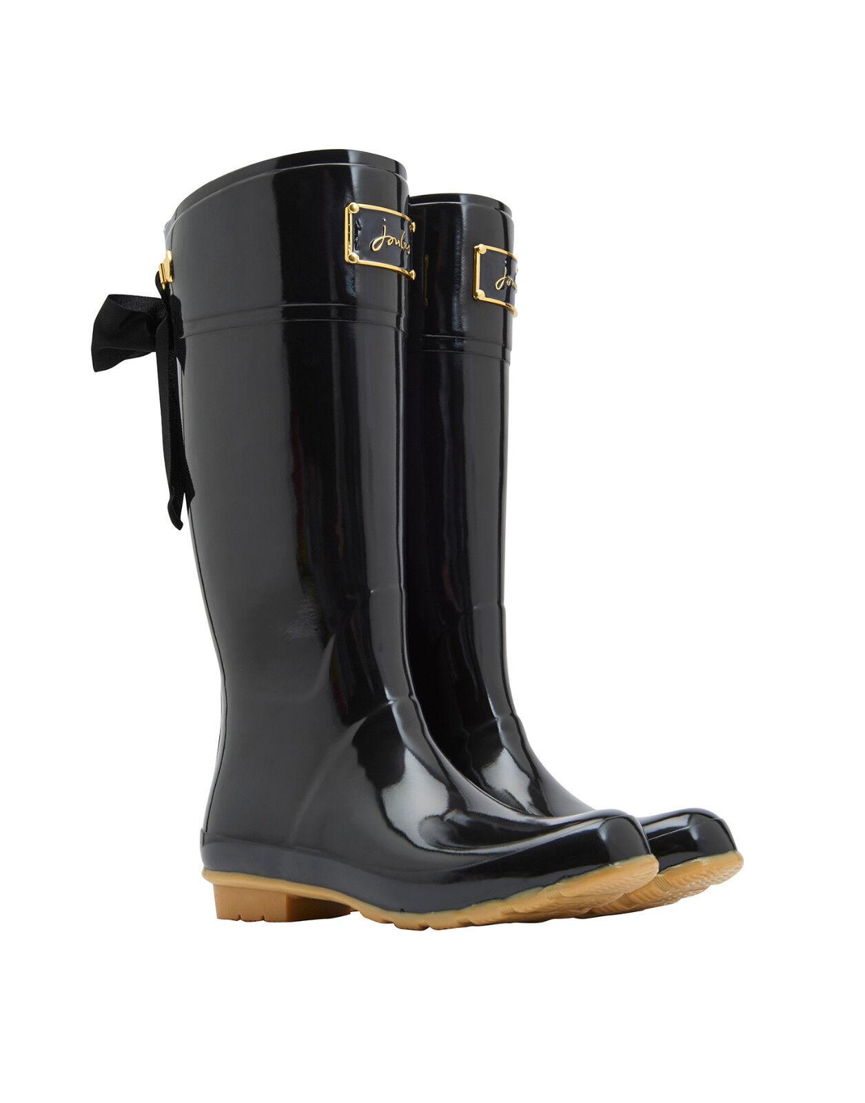 Grandes zapatos con descuento % JOULES Tom Joule Gummistiefel EVEDON schwarz Lack mit Schleife Gr.38 - 40 NEU