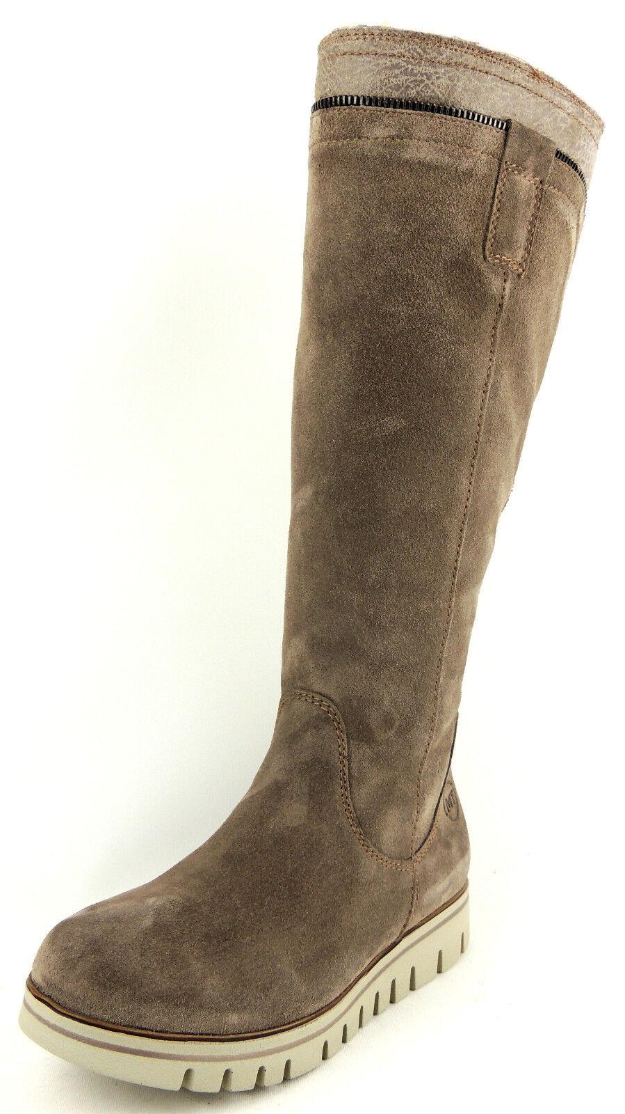 MARCO TOZZI  Damen Stiefel  VELOURSLEDER  taupe  WARMFUTTER  statt  | Creative  | Hohe Qualität und günstig  | Hochwertige Materialien