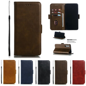 Flip-Magnetic-Format-Solid-Colour-Retro-PU-Leather-Case-For-Huawei-P30-P20-Lite