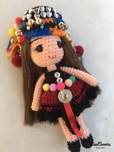 100-Handmade-Crocheted-Thailand-Charm-Hmong-Hill-Tribe-Doll-Amigurumi-Cute