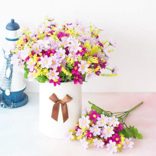 Plastic Artificial Flowers Daisy Outdoor Garden Bouquet Floral Decal Home Decor