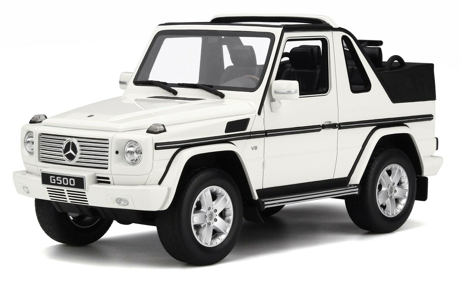 OTTO MOBILE 275 MERCEDES BENZ CLASS G CABRIOLET resin model car Weiß 2007 1 18