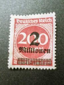 1923 Weimar Republic German Empire overprint stamp 2 million on 200 mark stamp