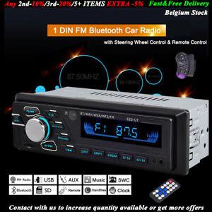 1-DIN-Car-Radio-de-Voiture-Autoradio-Bluetooth-MP3-FM-USB-AUX-Head-Unit-Stereo