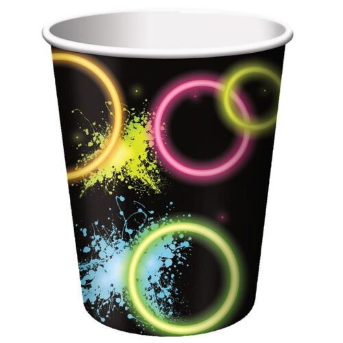 Glow Party Neon Birthday Party Supplies Cup
