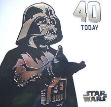 STAR WARS âge 40 ans Today 40th Vierge Carte D'anniversaire Pas De Message