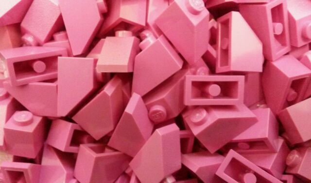*NEW* Lego Pink 1x2 Slope Bricks Blocks Girls Walls Roof Houses - 20 pieces