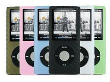 for Apple iPod Nano 4th Generation Soft Silicone Rubber Skin Cover Case, 6X