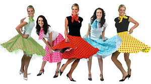 ADULT-LADIES-ROCK-AND-ROLL-SKIRT-FANCY-DRESS-COSTUME-POLKA-DOT-50S-OUTFIT