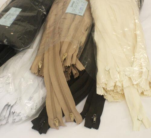 Various sizes No3 Medium Weight Closed Zips 10 pack