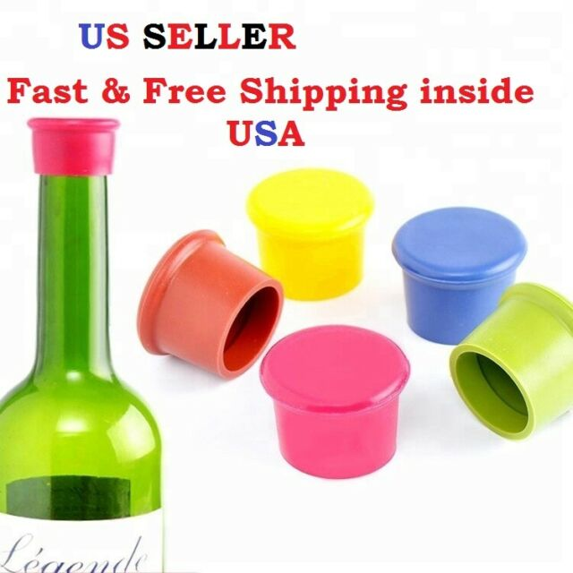 New Silicone Bottle Caps Wine Cover Lid Wine Pourer Stopper Kitchen Tools