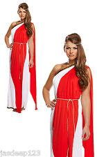 Womens Roman Ladies Greek Goddess Toga Fancy Dress Costume Ancient Hen Night Do