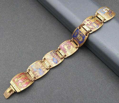 Vintage Heraldic England Royal Crest Bracelet