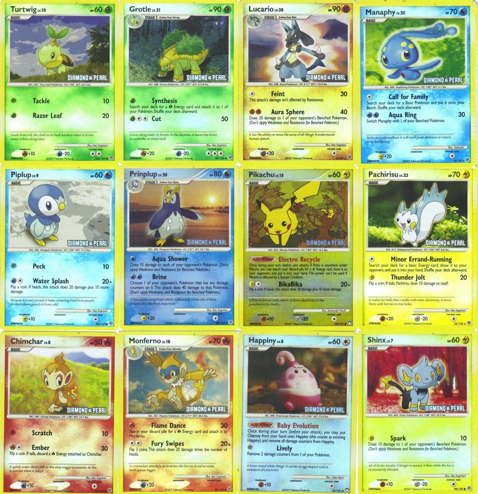 Vollständige reihe von 2008 burger king pokémon - karte viele promo - karten 12 neue folie holo nm