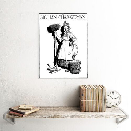 Il SICILIANO Char-Woman Heath Robinson art print poster foto hp1104