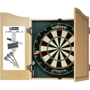 Unicorn-Striker-Home-Darts-Centre-Home-Pub-Club-Darts-Cabinet-Dartboard-Set