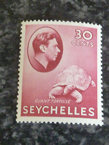 SEYCHELLES-POSTAGE-STAMP-SG142-CARMINE-30-CENTS-LIGHTLY-MOUNTED-MINT