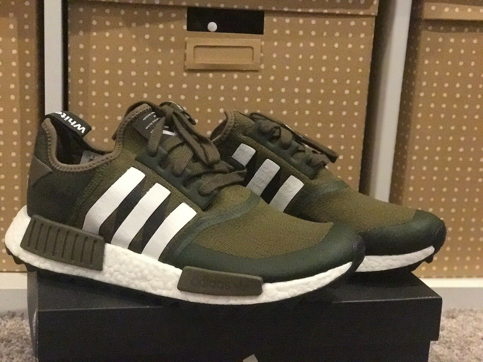 Adidas NMD WM Trail CG3647 White Mountaineering Trace Olive Size 9