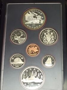 1981-Canada-Proof-Set-In-Box-COA-Toned-Double-Railroad-Commemorative-Silver