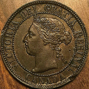 1893-CANADA-LARGE-CENT-PENNY-LARGE-1-CENT-COIN-Excellent-example