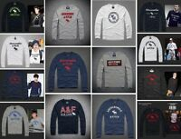 Mens New Abercrombie & Fitch by Hollister Long Sleeve T Shirt A&F Muscle Fit