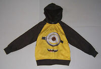 Dispicable Me Minion Gray & Yellow Boy's Hoodie Sweatshirt Various Sizes