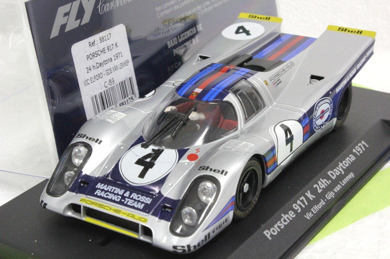 Volar C89 Porsche 917K Vic Elford Daytona 71' Nuevo 1 32 Coche Ranura - Martini