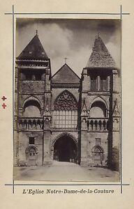 Mans Francia Stampa Albumina Vintage Verso 1890 Formato CDV 2 Foto R / Volt