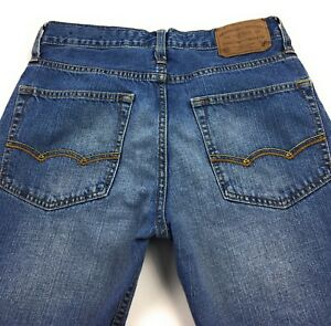 American-Eagle-Outfitters-Relaxed-Straight-Blue-Jeans-Men-039-s-28x30-Actual-28x29