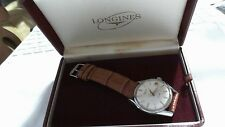 Longines shock absorber cassa in acciaio vintage del 1960 car aut-cal 291 top c.