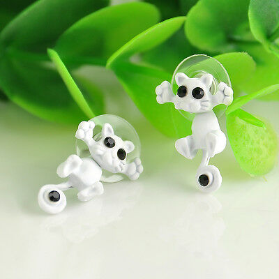 New 3D Kitten Multiple Color Hot Ear Jewelry Cat Stud Earring Women Trendy Charm