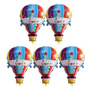 5pcs Pack Hot Air Foil Balloons Wedding Birthday Party Decor Photo