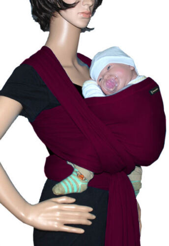 bordeaux Tragetuch SONNENSCHEIN Babytragetuch Babytrage Bauchtrage stretch