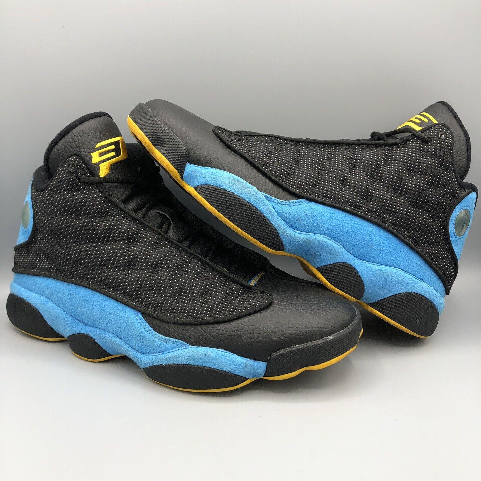 Nike Air Jordan Retro XIII CP3 Chris Paul Hornets Black bluee SZ 11 PE 823902 015