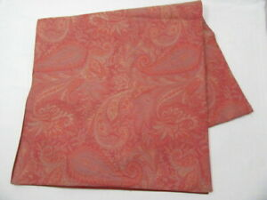 Pottery Barn Italian Jacquard Paisley Red Cotton 18 X 70