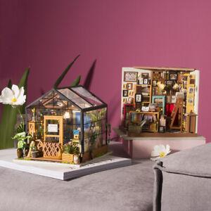 Robotime-DIY-Handmade-Kids-Doll-House-With-Furniture-kits-Shop-Dollhouse-Gift