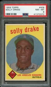 1959-Topps-BB-Card-406-Solly-Drake-Los-Angeles-Dodgers-PSA-NM-MT-8
