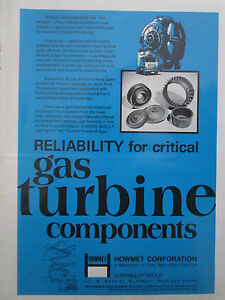 Details about 2/72 howmet pub gas turbines components pechiney superalloy  ford gas turbine ad- show original title