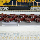 5 x Metal Model Cars 1:87 HO Scale for Building Railroad Train Scenery Brown