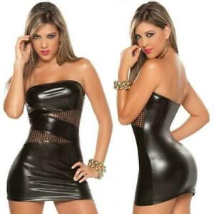 SEXY-WOMENS-METALLIC-WET-LOOK-BODYCON-CLUBWEAR-PARTY-DRESS-WITH-SEQUINS