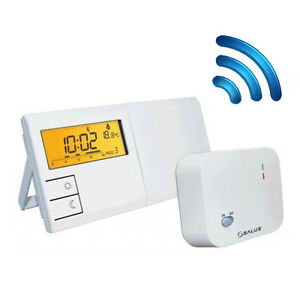 wireless digital programmable thermostat salus 091flrf. Black Bedroom Furniture Sets. Home Design Ideas