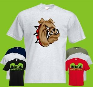 Delicious Spiked Collar Bulldog Mens Printed T-shirt Animal Pet Dog Cartoon Cartoon T Shirt Men Unisex New Fashion Tshirt Loose Size T-shirts Men's Clothing