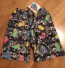 RaRe *1989 ROLLING STONES* vtg concert tour jams shorts (S/M) MINT Rock Shirt