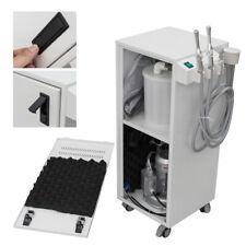 350w Portable Dental High Vacuum Suction Mobile Unit Pump 300lmin Aspirator